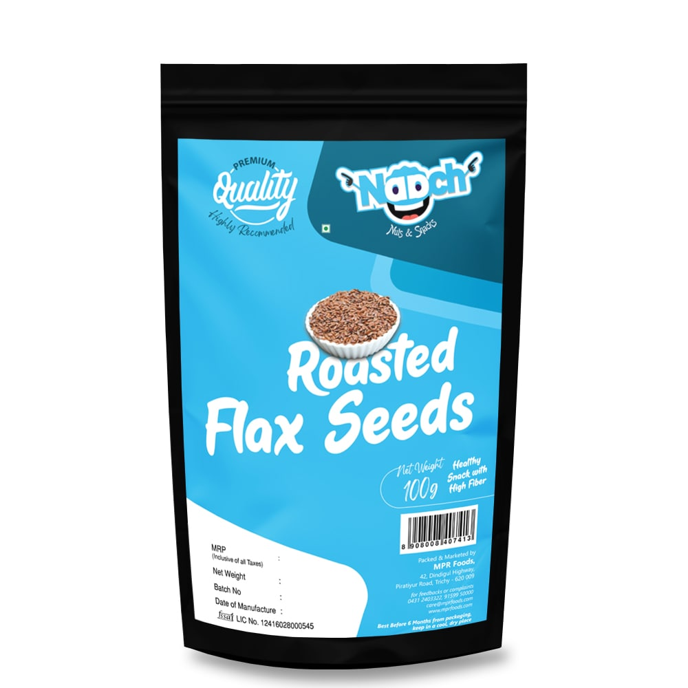 NAACH- ROASTED FLAX SEEDS 100G