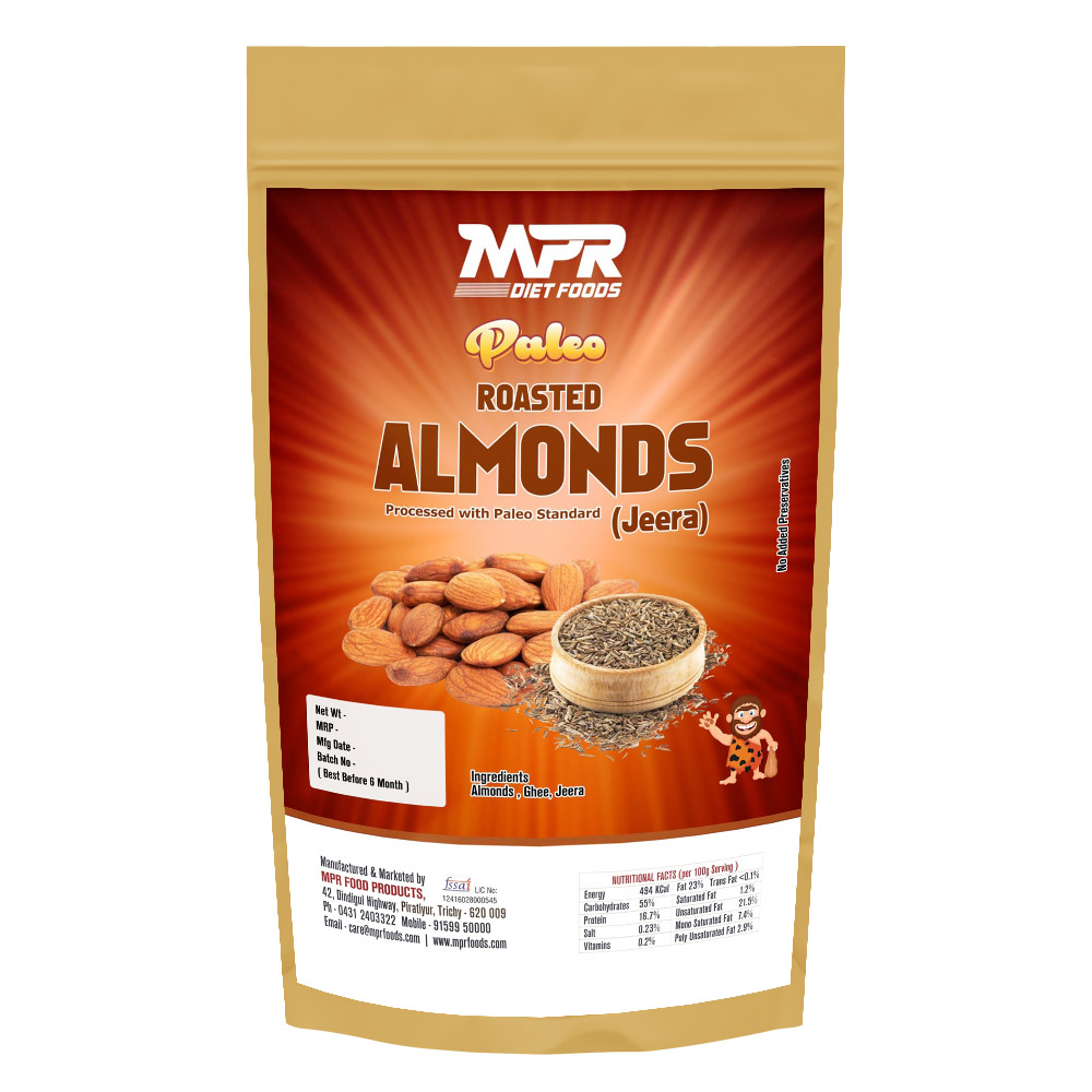 MPR DIET FOODS- PALEO JEERA ALMONDS