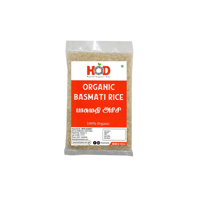 HOD- ORGANIC WHITE BASMATI RICE 1KG